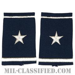 准将(Brigadier General (BG))[空軍ブルー/ショルダー階級章/ショートサイズ肩章/ペア(2枚1組)]の画像