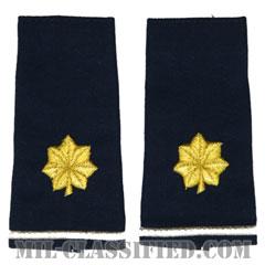 少佐(Major (MAJ))[空軍ブルー/ショルダー階級章/ロングサイズ肩章/ペア(2枚1組)]の画像