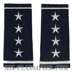 大将(General (GEN))[空軍ブルー/ショルダー階級章/ロングサイズ肩章/ペア(2枚1組)]の画像