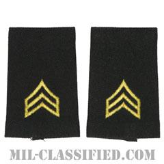 軍曹(Sergeant (SGT))[ブラック/ショルダー階級章/ショートサイズ肩章/ペア(2枚1組)]の画像