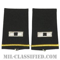 准尉 (WO1)(Warrant Officer (WO1))[ブラック/ショルダー階級章/ショートサイズ肩章/ペア(2枚1組)]の画像