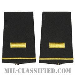 少尉(Second Lieutenant (2LT))[ブラック/ショルダー階級章/ショートサイズ肩章/ペア(2枚1組)]の画像