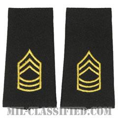 曹長(Master Sergeant (MSG))[ブラック/ショルダー階級章/ロングサイズ肩章/ペア(2枚1組)]の画像