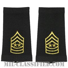 陸軍最先任上級曹長(Sergeant Major of the Army (SMA))[ブラック/ショルダー階級章/ロングサイズ肩章/1979-1994/ペア(2枚1組)]の画像