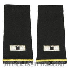 准尉 (WO1)(Warrant Officer (WO1))[ブラック/ショルダー階級章/ロングサイズ肩章/ペア(2枚1組)]の画像