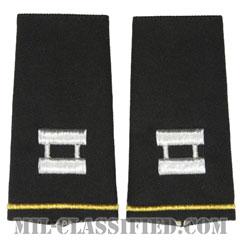 大尉(Captain (CPT))[ブラック/ショルダー階級章/ロングサイズ肩章/ペア(2枚1組)]の画像