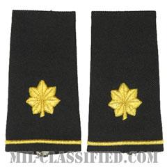 少佐(Major (MAJ))[ブラック/ショルダー階級章/ロングサイズ肩章/ペア(2枚1組)]の画像