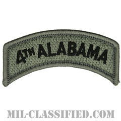 フォースアラバマタブ(4th Alabama Tab)[UCP(ACU)/メロウエッジ/ベルクロ付パッチ]の画像