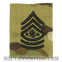 陸軍最先任上級曹長(Sergeant Major of the Army (SMA))[OCP/ゴアテックスパーカー用スライドオン階級章]の画像