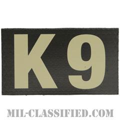 K9(警察犬憲兵)(Canine, Military Police)[IR(赤外線)反射素材/3.5インチ幅/ベルクロ付パッチ]の画像