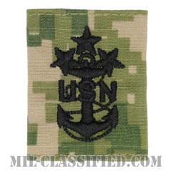海軍最先任上等兵曹(Master Chief Petty Officer of the Navy)[NWU Type3(AOR2)/ユニフォーム・パーカー用スライドオン階級章]の画像