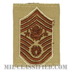 空軍最先任上級曹長(Chief Master Sergeant of the Air Force (CMSAF))[デザート(Desert)/ゴアテックスパーカー用スライドオン空軍階級章]の画像