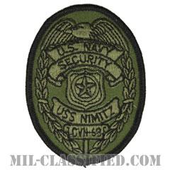Naval Security Force (アメリカ海軍航空母艦ニミッツ憲兵隊/USS NIMITZ CVN-68)[サブデュード/メロウエッジ/パッチ]の画像