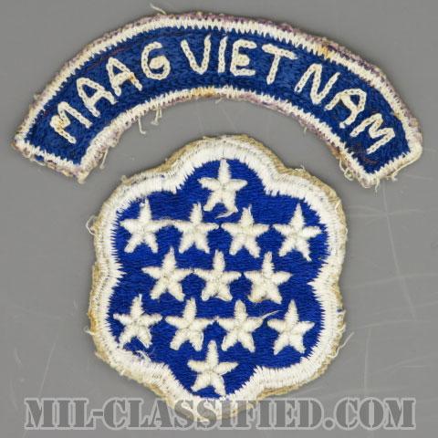 ベトナム軍事援助顧問群(MAAG-VIETNAM)[カラー/カットエッジ/パッチ/ローカルメイドタブ付/中古1点物]の画像