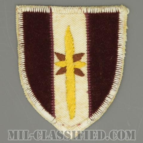 第44医療旅団(44th Medical Brigade)[カラー/カットエッジ/パッチ/ローカルメイド/一部ベルベット生地/1点物]の画像