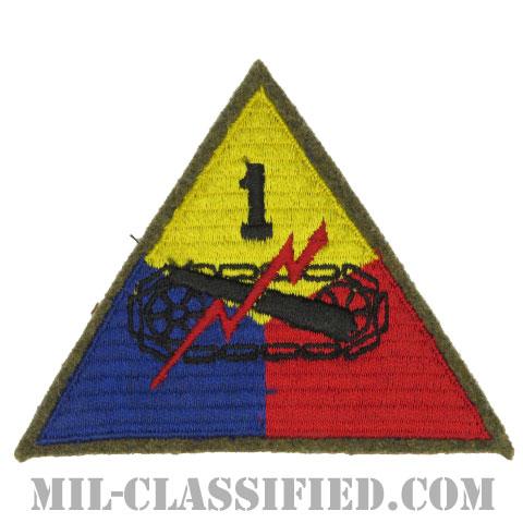 第1機甲師団(1st Armored Division)[カラー/カットエッジ/パッチ/ウール・フェルト生地/1点物]の画像