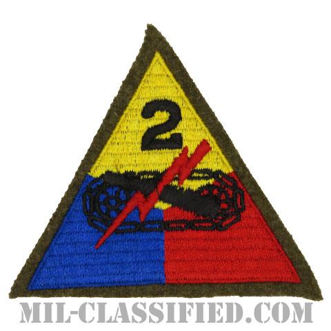 第2機甲師団(2nd Armored Division)[カラー/カットエッジ/パッチ/ウール・フェルト生地/1点物]の画像