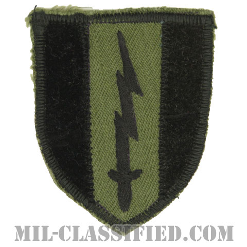 第1通信旅団(1st Signal Brigade)[サブデュード/カットエッジ/パッチ/ローカルメイド/一部ベルベット生地/1点物]の画像