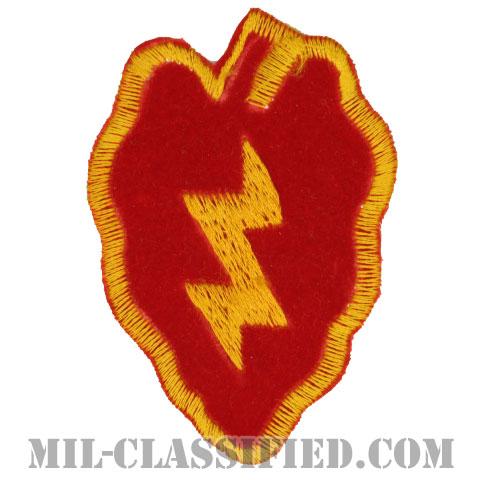 第25歩兵師団(25th Infantry Division)[カラー/カットエッジ/パッチ/ローカルメイド/ベルベット生地/1点物]の画像