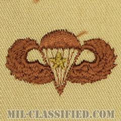 戦闘空挺章 (ベーシック) 降下1回(Combat Parachutist Badge, Basic, One Jump)[デザート/パッチ]の画像