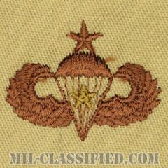 戦闘空挺章 (シニア) 降下1回(Combat Parachutist Badge, Senior, One Jump)[デザート/パッチ]の画像