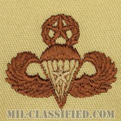 戦闘空挺章 (マスター) 降下1回(Combat Parachutist Badge, Master, One Jump)[デザート/パッチ]の画像