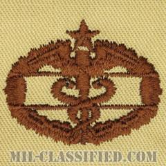 戦闘医療章 (セカンド)(Combat Medical Badge (CMB), Second Award)[デザート/パッチ]の画像