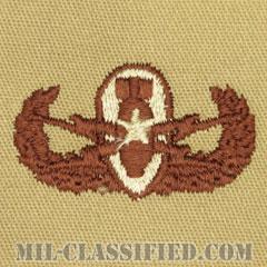 爆破物処理章 (シニア)(Explosive Ordnance Disposal (EOD), Badge, Senior)[デザート/パッチ]の画像