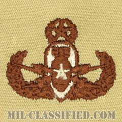 爆破物処理章 (マスター)(Explosive Ordnance Disposal (EOD), Badge, Master)[デザート/パッチ]の画像