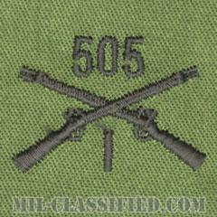 第505歩兵連隊第1大隊章(1st Battalion, 505th Infantry Regiment)[サブデュード/兵科章/パッチ/ペア(2枚1組)]の画像