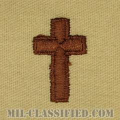 キリスト教従軍牧師科章(Chaplain Corps, Christian Faith)[デザート/兵科章/パッチ/ペア(2枚1組)]の画像