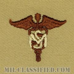 衛生業務科章(Medical Service Corps)[デザート/兵科章/パッチ/ペア(2枚1組)]の画像