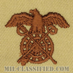 需品科章(Quartermaster Corps)[デザート/兵科章/パッチ/ペア(2枚1組)]の画像
