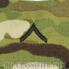 一等兵(Private Second Class (PV2))[OCP/階級章/キャップ用縫い付けパッチ]の画像