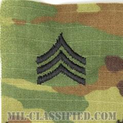 軍曹(Sergeant (SGT))[OCP/階級章/キャップ用縫い付けパッチ]の画像