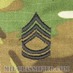 一等軍曹(Sergeant First Class (SFC))[OCP/階級章/キャップ用縫い付けパッチ]の画像