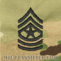 上級曹長(Sergeant Major (SGM))[OCP/階級章/キャップ用縫い付けパッチ]の画像