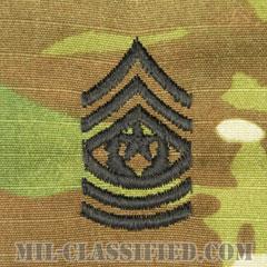 最上級曹長(Command Sergeant Major (CSM))[OCP/階級章/キャップ用縫い付けパッチ]の画像