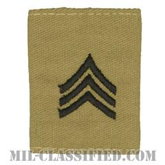 軍曹(Sergeant (SGT))[デザート/ゴアテックスパーカー用スライドオン階級章]の画像