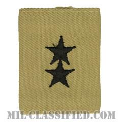 少将(Major General (MG))[デザート/ゴアテックスパーカー用スライドオン階級章]の画像