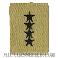 大将(General (GEN))[デザート/ゴアテックスパーカー用スライドオン階級章]の画像