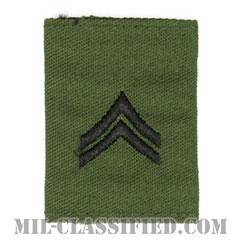 伍長(Corporal (CPL))[サブデュード/ゴアテックスパーカー用スライドオン階級章]の画像