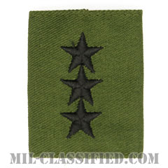 中将(Lieutenant General (LTG))[サブデュード/ゴアテックスパーカー用スライドオン階級章]の画像