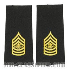 陸軍最先任上級曹長(Sergeant Major of the Army (SMA))[ブラック/ショルダー階級章/ロングサイズ肩章/1994-/ペア(2枚1組)]の画像