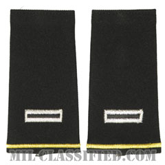 准尉 (CW5)(Chief Warrant Officer 5 (CW5))[ブラック/ショルダー階級章/ロングサイズ肩章/ペア(2枚1組)]の画像