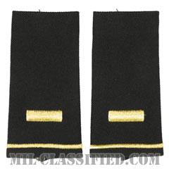 少尉(Second Lieutenant (2LT))[ブラック/ショルダー階級章/ロングサイズ肩章/ペア(2枚1組)]の画像