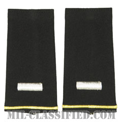 中尉(First Lieutenant (1LT))[ブラック/ショルダー階級章/ロングサイズ肩章/ペア(2枚1組)]の画像