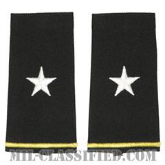 准将(Brigadier General (BG))[ブラック/ショルダー階級章/ロングサイズ肩章/ペア(2枚1組)]の画像