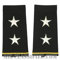 少将(Major General (MG))[ブラック/ショルダー階級章/ロングサイズ肩章/ペア(2枚1組)]の画像