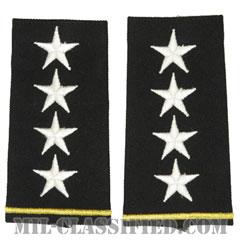 大将(General (GEN))[ブラック/ショルダー階級章/ロングサイズ肩章/ペア(2枚1組)]の画像